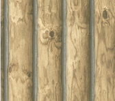 CH7977LM-LAKE FOREST LODGE MOUNTAIN LOGS WALLPAPER-LIGHT BROWN