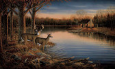 LAKE FOREST LODGE DEER MURAL-MULTI