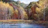 LAKE FOREST LODGE PEACEFUL SETTINGS MURAL-MULTI