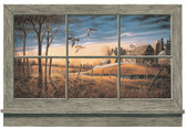 LAKE FOREST LODGE RUSTIC WINDOW WALL ACCENT MURAL-MULTI