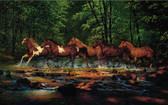 LAKE FOREST LODGE RUNNING HORSES MURAL-MULTI