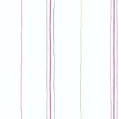 York Kids IV Pooch Stripe Pink-White Wallpaper KL2973YK