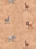 York Kids IV Safari Peach Wallpaper KZ4205YK