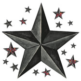 RMK2198GM-Welcome Home Barn Star Wall Decal Wall Applique