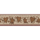 YC3331BD-Welcome Home Love & Laughter Tin Star Border