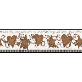 YC3332BD-Welcome Home Hearts, Love & Laughter Tin Star Border