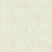 YC3374-Welcome Home Distressed Damask Wallpaper Bisque White