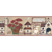 YC3388BD-Welcome Home Light Taupe Inspirational Garden Border