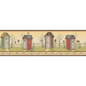 YC3393BD-Welcome Home Country Outhouse Border