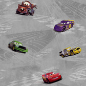 DK6119-Walt Disney Kids Cars Racing Wallpaper-Silver