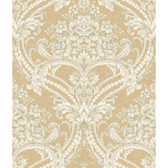 Saint Augustine Baroque Floral Damask BQ3893 Wallpaper in Oat and White