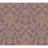 Texture Passport Paisley Scroll GX8139 Mauve Wallpaper