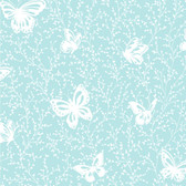 YS9215-PEEK-A-BOO BUTTERFLY GARDEN WALLPAPER -soft turquoise-white