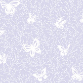 YS9218-PEEK-A-BOO BUTTERFLY GARDEN WALLPAPER -soft lavender-white