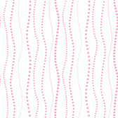 KD1849-PEEK-A-BOO DOTTY STRIPE WALLPAPER-pearled pink-warm white