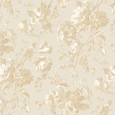 Gentle Manor Floral Trail Toile Oyster Wallpaper GG4709