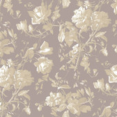 Gentle Manor Floral Trail Toile Mauve Wallpaper GG4713