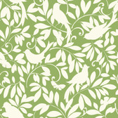 Waverly Cottage Birdsong Green Wallpaper ER8136