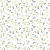 Waverly Cottage Bellisima Vine Blue-White Wallpaper ER8186