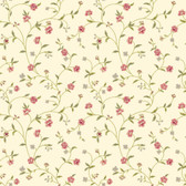 Waverly Cottage Bellisima Vine Rose-Cream Wallpaper ER8189