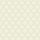 Waverly Cottage Buzzing Around Trellis Tan Wallpaper ER8194