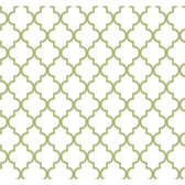 Waverly Cottage Buzzing Around Trellis Pear Green-White Wallpaper ER8196