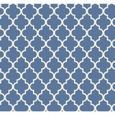Waverly Cottage Buzzing Around Trellis Royal Blue Wallpaper ER8201