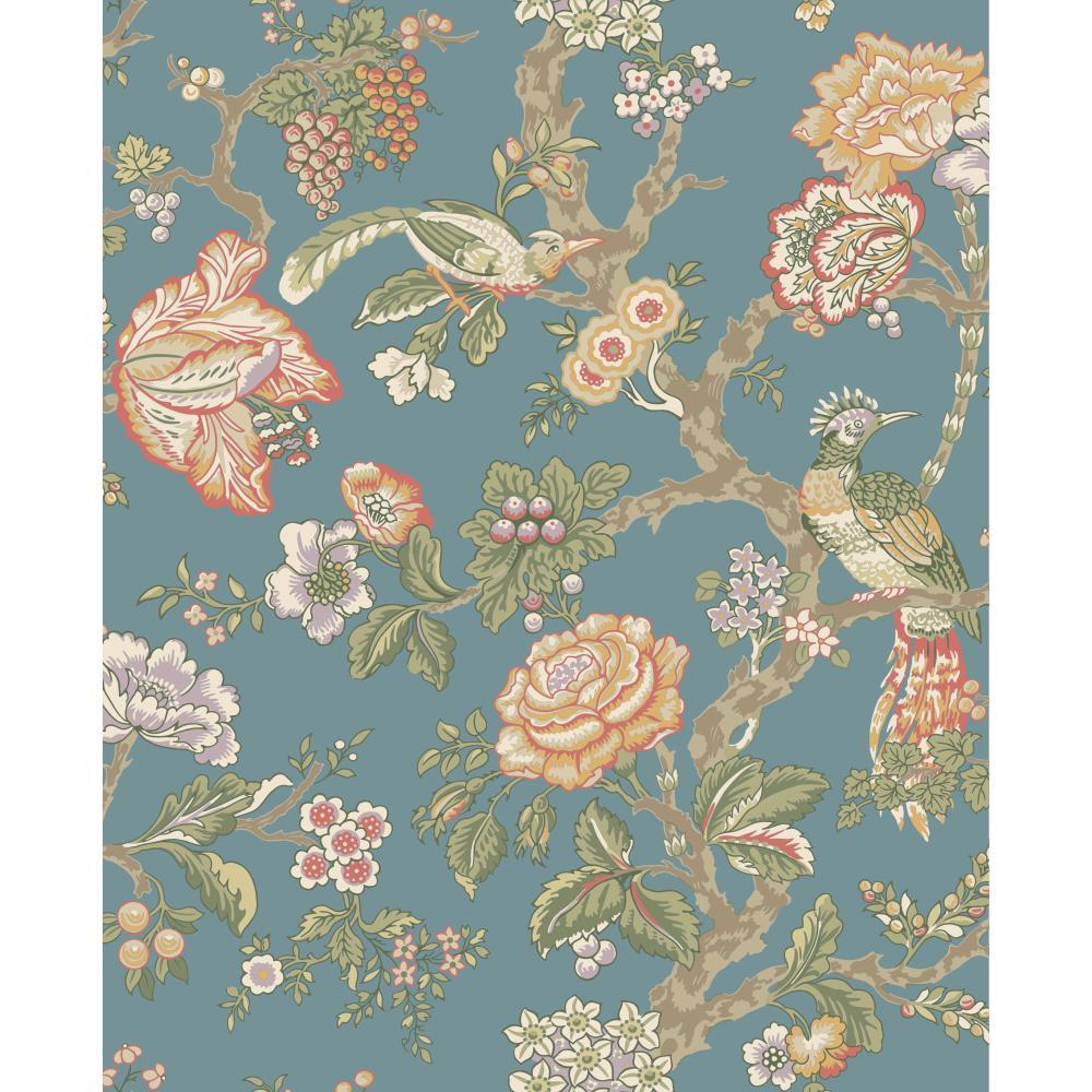 Wa7736 Waverly Classics Casa Blanca Rose Wallpaper