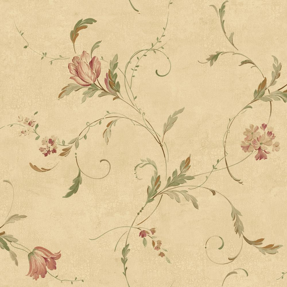 Keepsake Delicate Tulip Spray Beige Wallpaper Gp7252