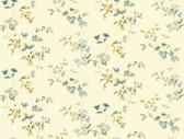 Keepsake Wild Flower Trail Blue-Cream Wallpaper GP7293