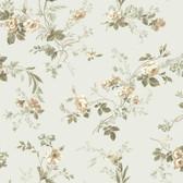 Keepsake Small Floral Trail Wallpaper Beige Green GP7350