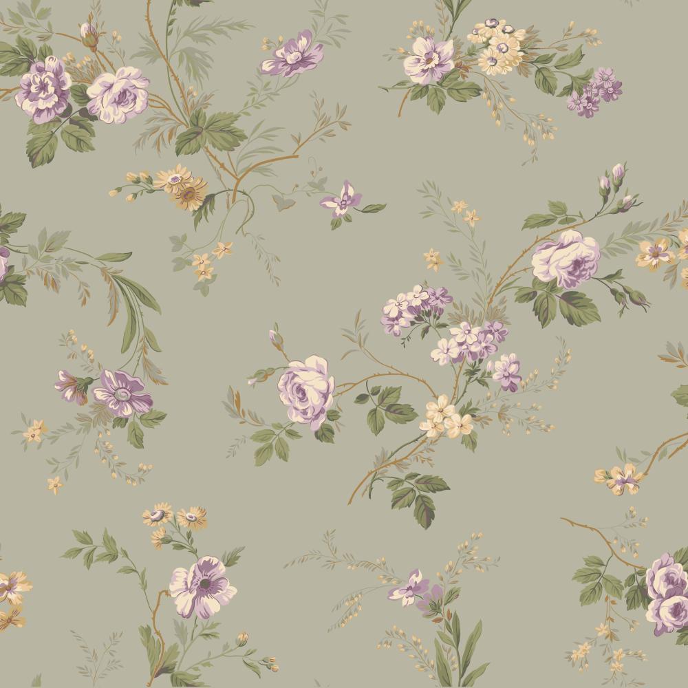 Keepsake Small Floral Trail Wallpaper Lilac Grey Gp7351