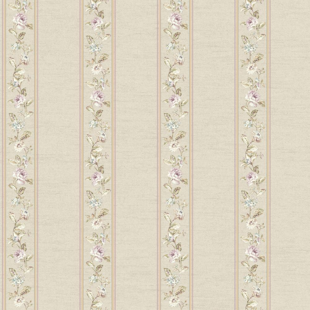 Riverside Park Fd8460 Floral Stripe Wallpaper Indoorwallpaper Com
