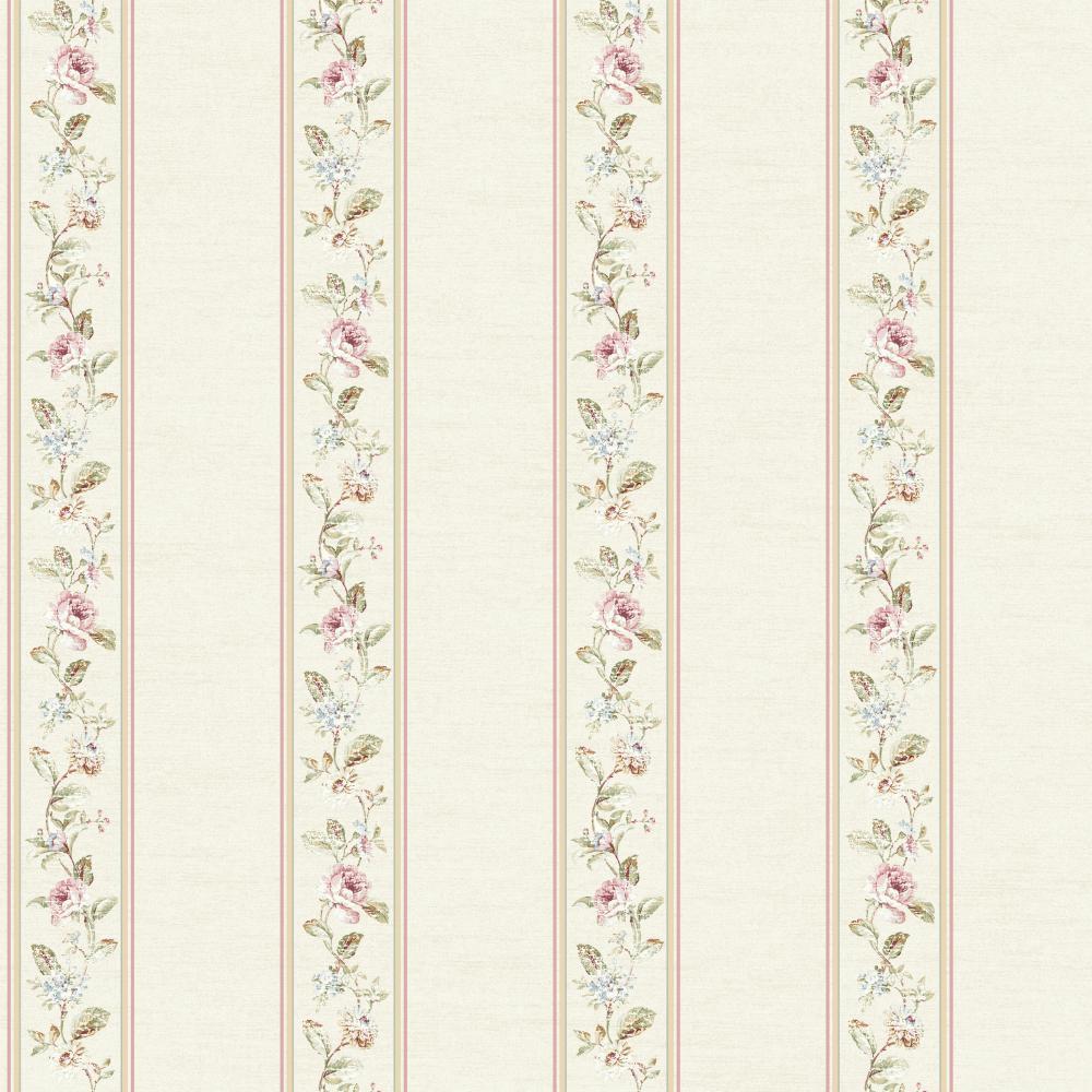 Riverside Park Fd8461 Floral Stripe Wallpaper Indoorwallpaper Com
