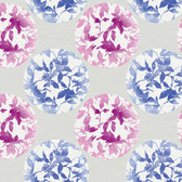 Risky Business II Earthbound Wallpaper RB4228 -Cobalt-Magenta-Silver Metallic