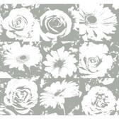 Risky Business II Petal Pusher Wallpaper RB4204 -Gravel Gray-White