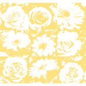 Risky Business II Petal Pusher Wallpaper RB4207 -Yellow-White