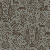 Silhouettes Woodland Tapestry Toile Dove Wallpaper AP7451