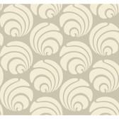Silhouettes Large Circle Swirl Geometric Hazelwood Wallpaper AP7464