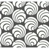 Silhouettes Large Circle Swirl Geometric Charcoal Wallpaper AP7465