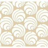 Silhouettes Large Circle Swirl Geometric Tan Wallpaper AP7467