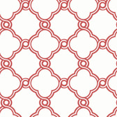 Silhouettes Fretwork Trellis Berry Wallpaper AP7485