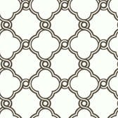 Silhouettes Fretwork Trellis Charcoal Wallpaper AP7489