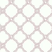 Silhouettes Fretwork Trellis Grape Wallpaper AP7491