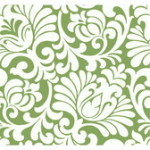 Silhouettes Oversized Tulip Damask Green Wallpaper AP7499