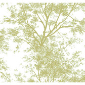 Silhouettes Contemporary Trees Ivory-Pear Wallpaper AP7504