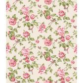 Rhapsody Garden Floral Wallpaper-VR3509 -creamy pearl- watermelon- pale pink- shades of sage green