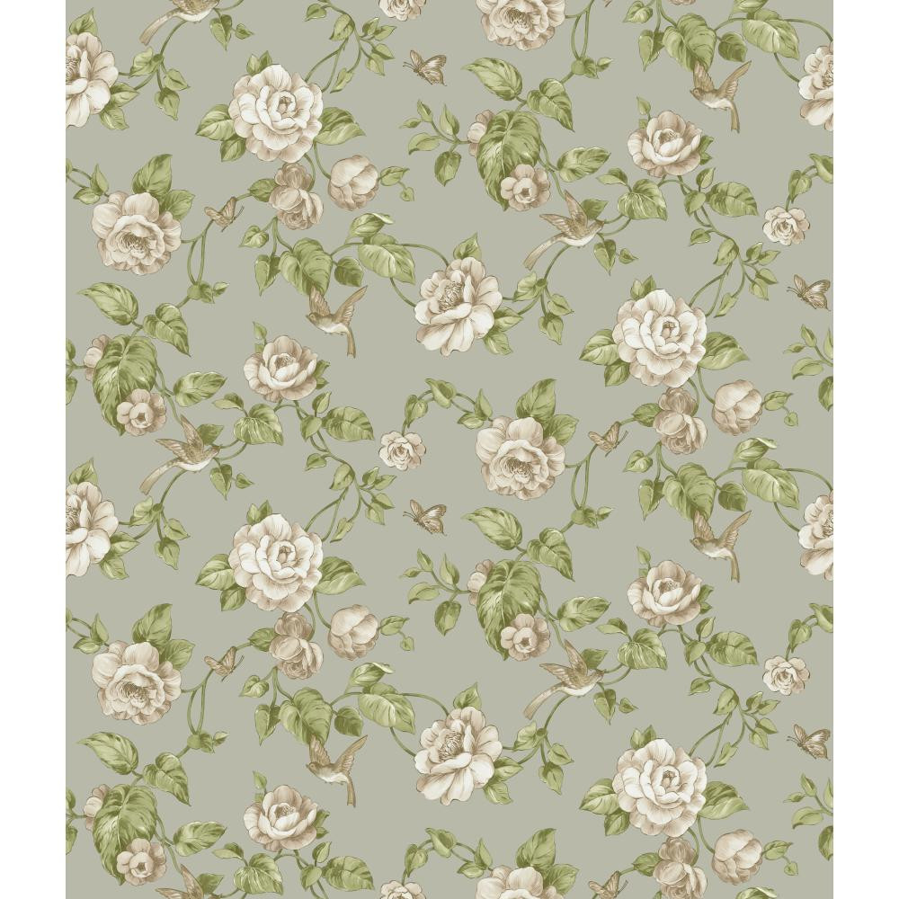 Rhapsod Garden Floral Wallpaper Vr3512 Indoorwallpaper Com