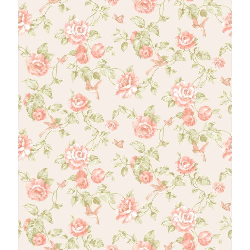 Rhapsod Garden Floral Wallpaper Vr3514 Indoorwallpaper Com
