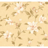 Regents Glen My Magnolia Wallpaper-PP5740-Sandy Beige-Light Olive Green-Putty Pink